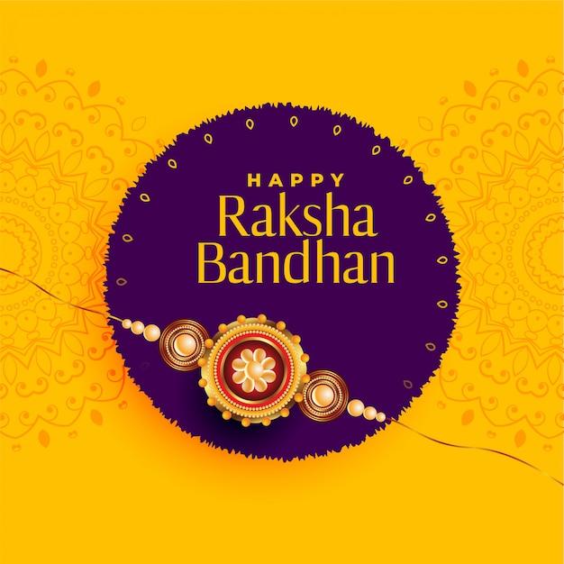 Brother and sister rakhi festival of raksha bandhan Free Vector