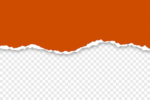 Carta strappata di browen su sfondo trasparente Vettore gratuito