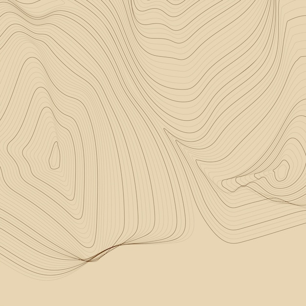 Brown abstract map contour lines background Vector | Free Download