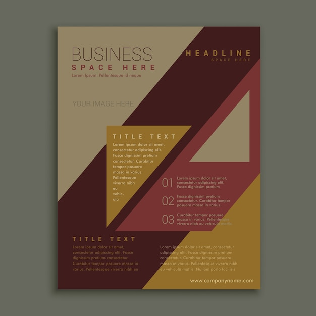 brown business brochure template vector