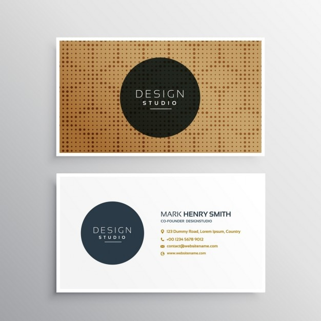 Brown business card with an elegant pattern vector free download brown business card with an elegant pattern free vector reheart Gallery