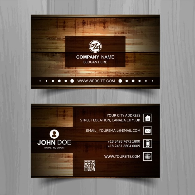 Brown business card with wooden texture vector free download brown business card with wooden texture free vector colourmoves