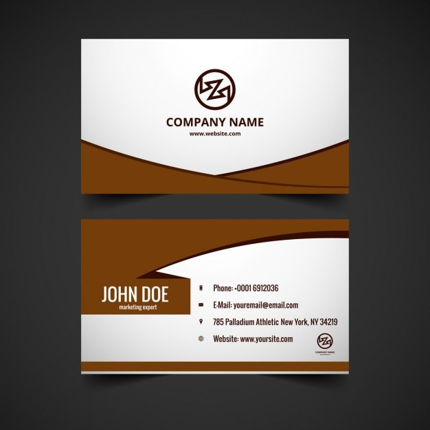 Brown color business card design vector free download brown color business card design free vector reheart Choice Image