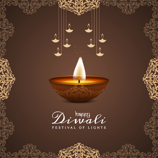 Free Vector Brown Color Happy Diwali Festival Greeting Background Download in under 30 seconds. brown color happy diwali festival