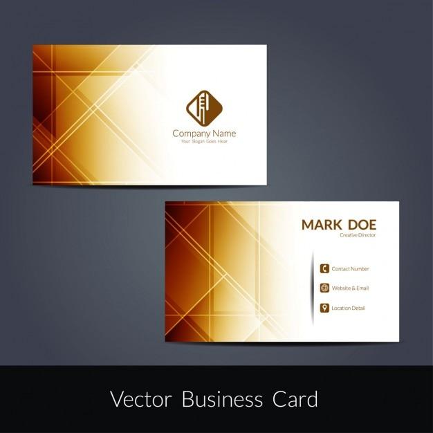 Brown elegant business card Vector