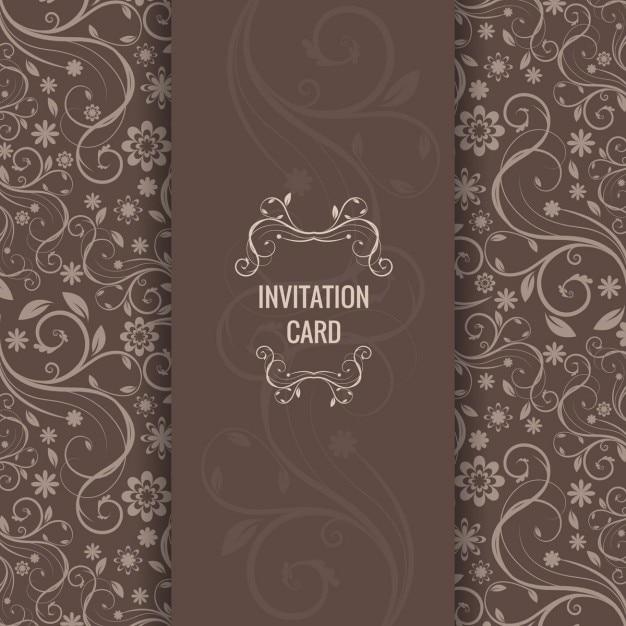 Brown elegant invitation card vector free download brown elegant invitation card free vector stopboris Images