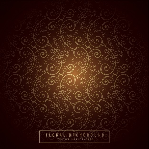 Brown Floral Background Vector Free Download