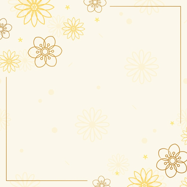 Brown floral frame Free Vector