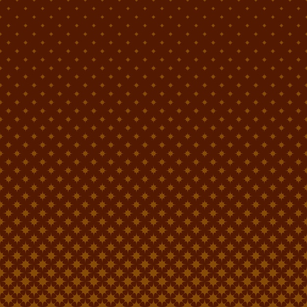 Brown Geometrical Halftone Star Pattern Background Vector