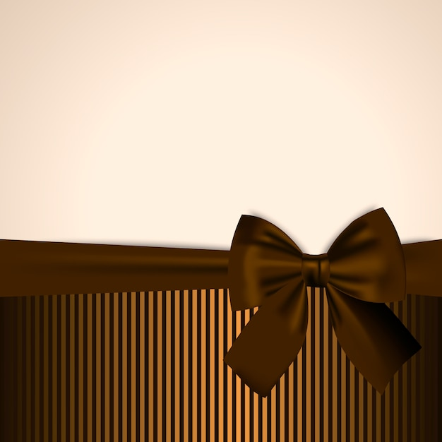 Brown and golden postcard Premium Vector