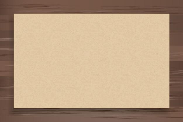 Brown paper on wood. Premium Vector