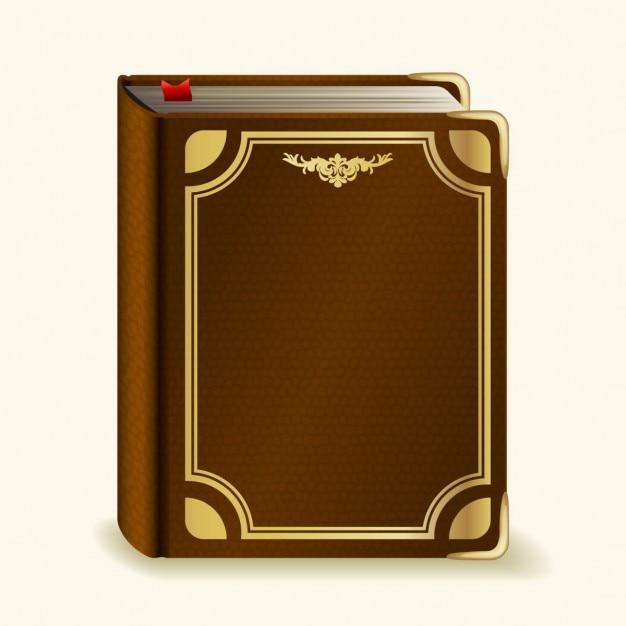 Book Cover Freepik ~ Brown realistic book vector free download