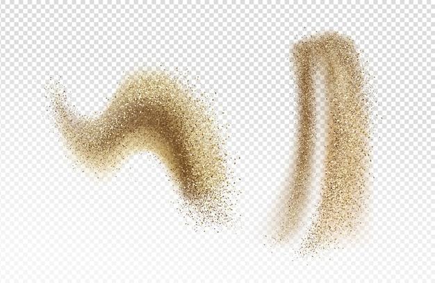 Падение коричневого песка Бесплатные векторы