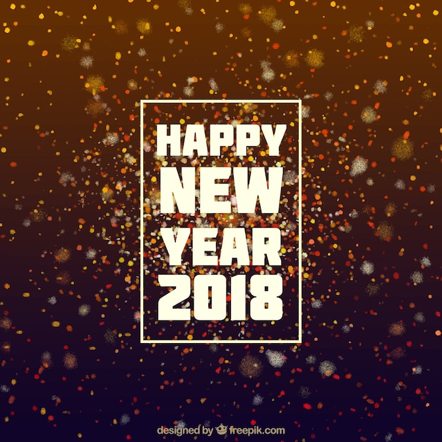 brown sparkly new year background free vector