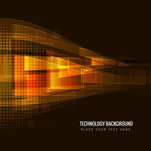 Brown technology background