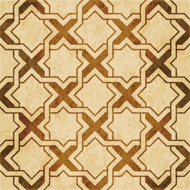 Коричневая акварель текстуры, бесшовные модели, исламская звезда геометрия крест кадр Premium векторы
