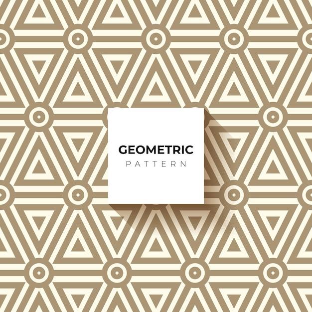 Sfondo ipnotico marrone e bianco. modello astratto senza soluzione di continuità. Vettore gratuito
