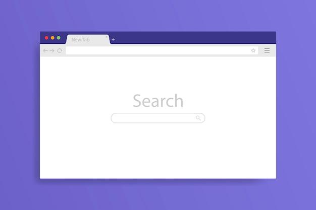 Окно браузера открывается на пк. браузер windows пустой шаблон макета установить веб-страницу. Premium векторы