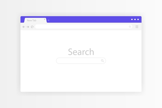 Окно браузера открыто на пк на прозрачном фоне. веб-страница набора пустых шаблонов окон браузера. современная иллюстрация. Premium векторы