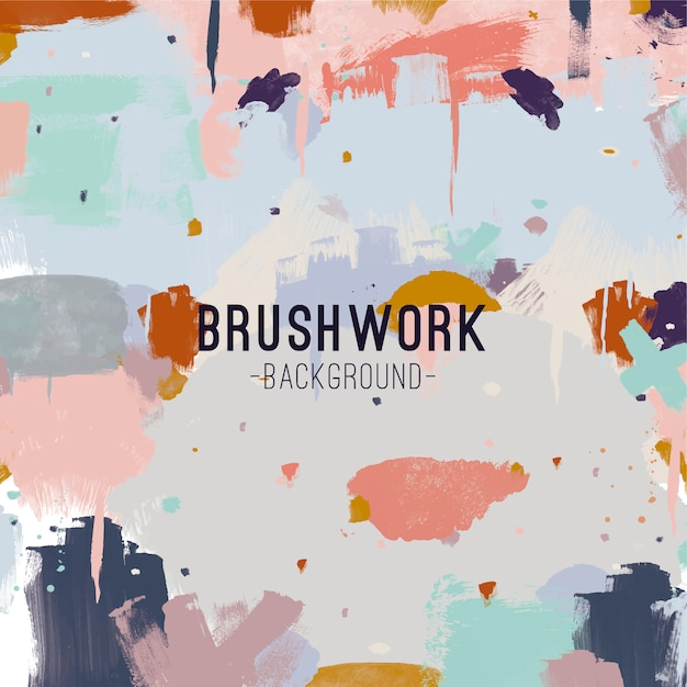 Brush background Free Vector
