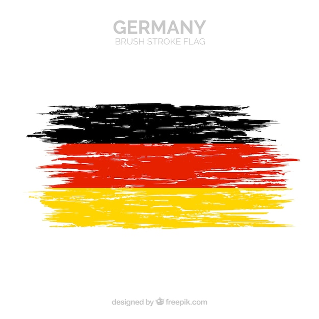 Brush stroke flag of germany Free Vector