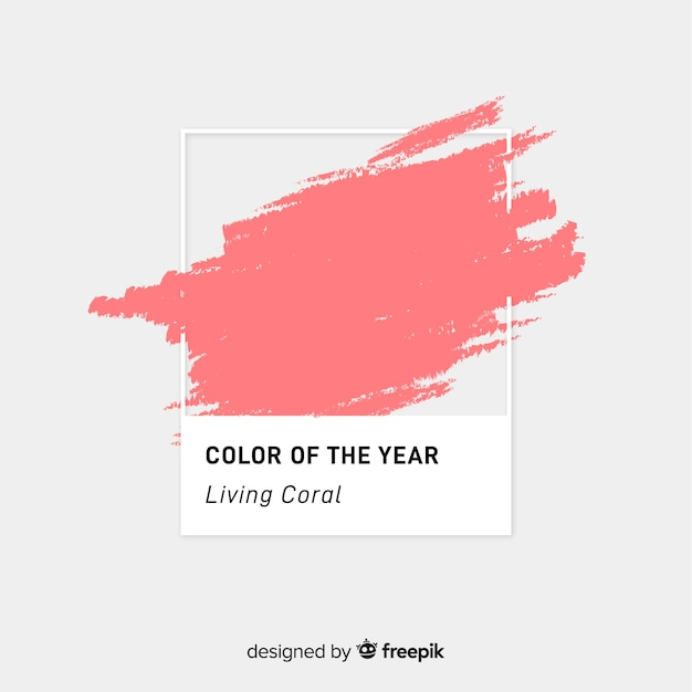 Brush stroke living coral background Free Vector