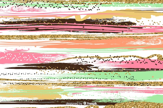 Brush strokes abstract background Free Vector