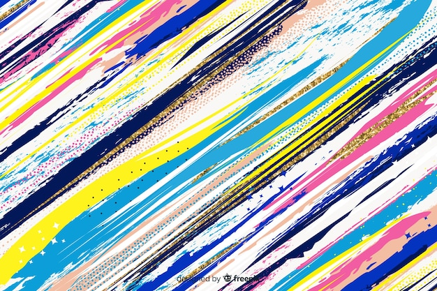 Brush strokes background abstract style Free Vector
