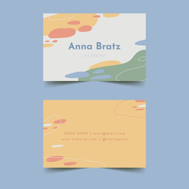 Brush strokes in gentle pastel colours for business card Free Vector