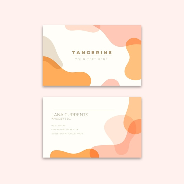 Bstract business card template Free Vector