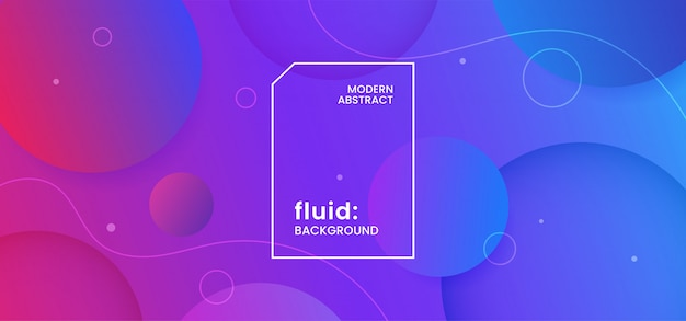 Bubble shape abstract background. fresh liquid water concept design Premium Vector