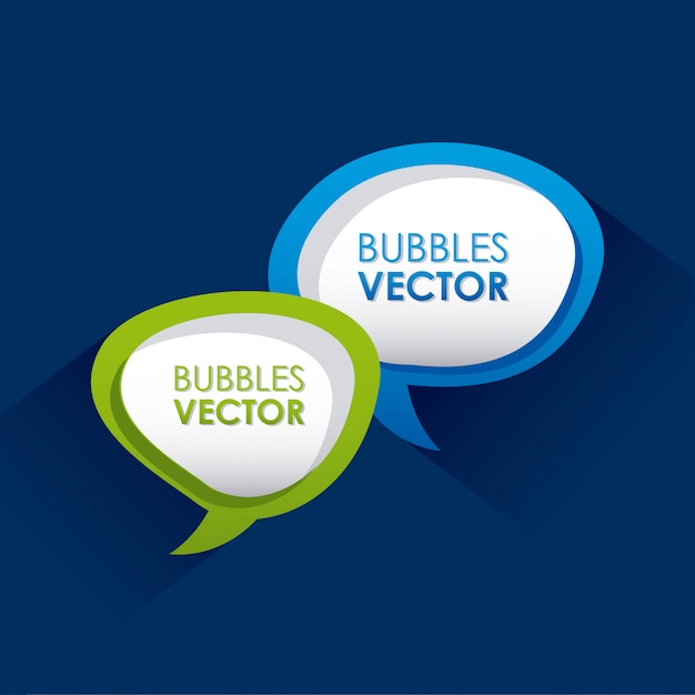Bubbles design over blue background vector illustration Premium Vector