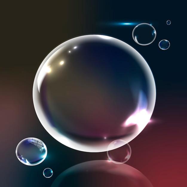 グラデーションの背景の泡 無料ベクター