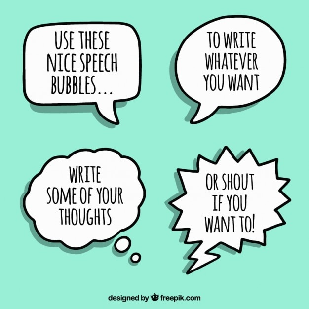 Bubbles speech collection Free Vector