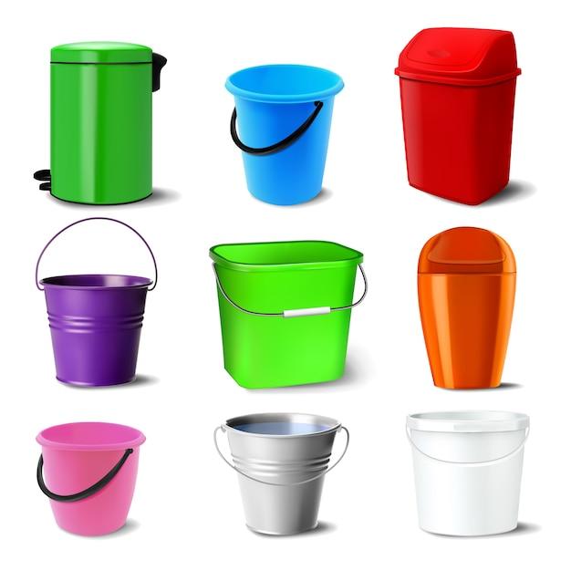 Bucket set Premium Vector