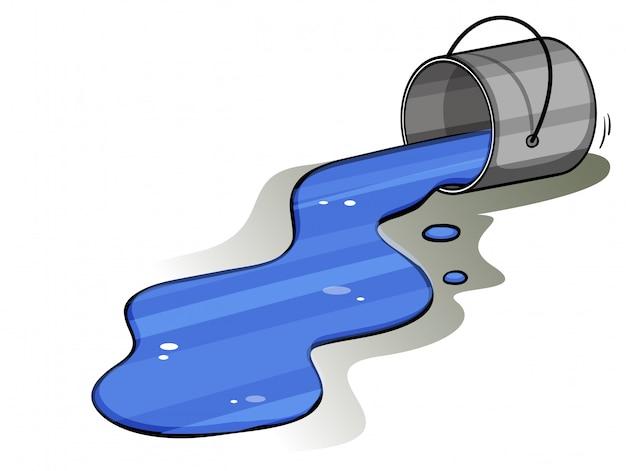 Bucket of spilt ink Free Vector
