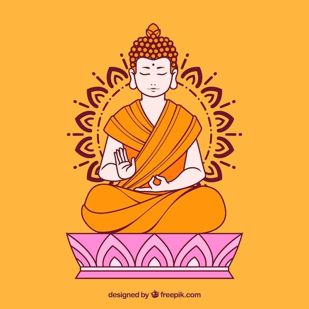 Budha background Free Vector