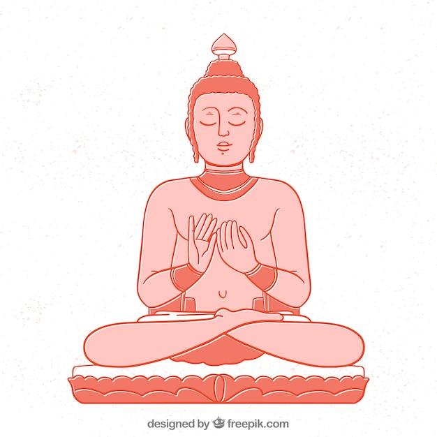 Budhaのバックグラウンド 無料ベクター