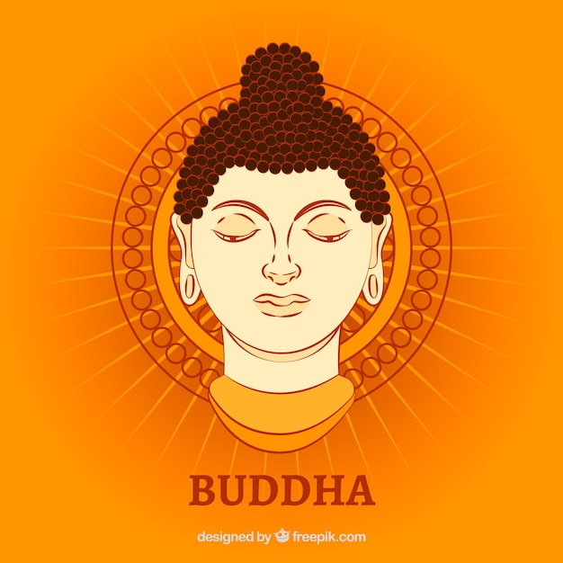 Budha representation with flat design Free Vector