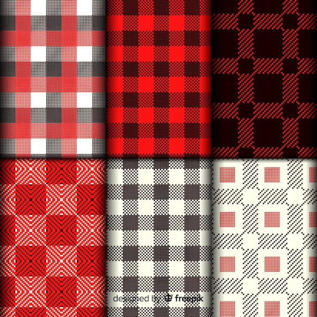 Buffalo pattern collection plaid Free Vector