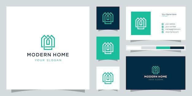 Создайте логотип дома в стиле арт. абстрактный дом для создания логотипа Premium векторы