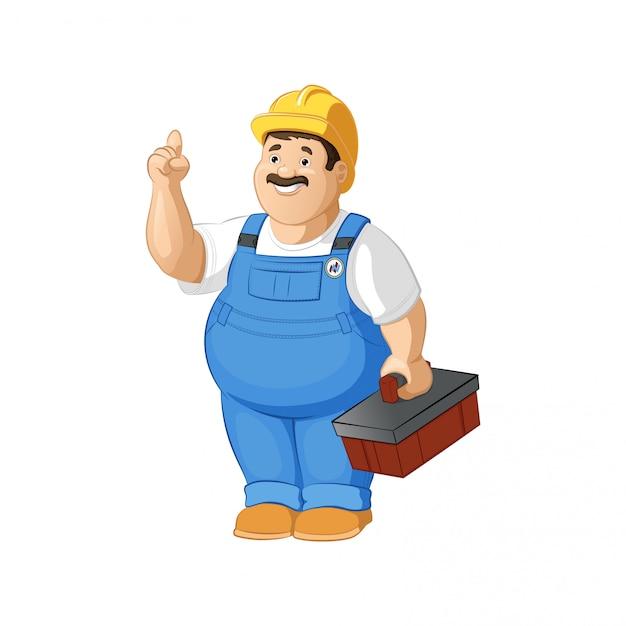 Builder or plumber Premium Vector