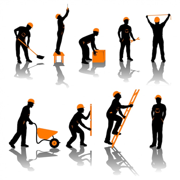 Builders Premium Vector