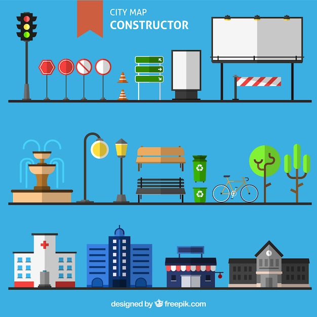 Building A City Map Vector Free Download