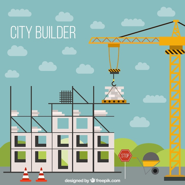 Building a house structure in flat design vector free Building structural design software free download