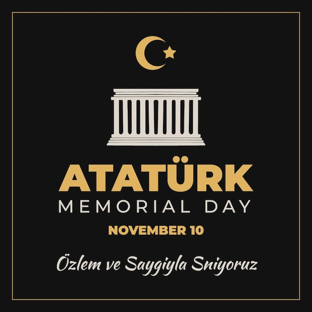 アタチュルク記念日を建てる 無料ベクター