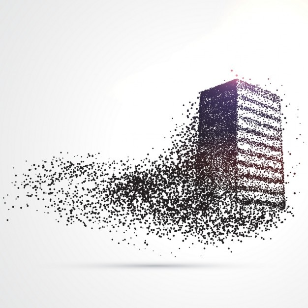 Building composition in particles Free Vector