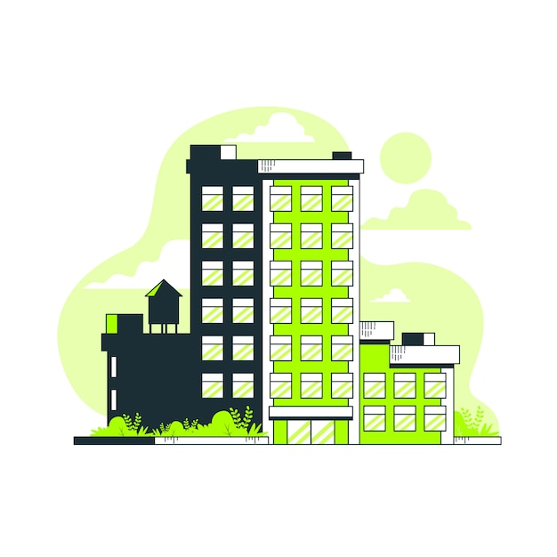 Building concept illustration Free Vector