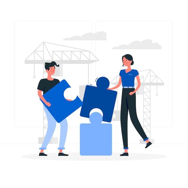 Building concept illustration Free Vector