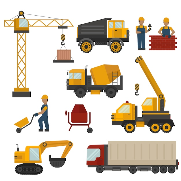 Building under construction Premium Vector